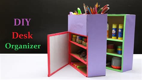 youtube organizer how to make a diy desk organizer youtube