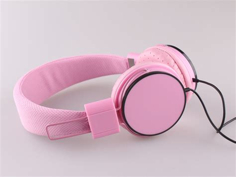 Headset Pink Fashion Color Stereo Headphones Pink Headset