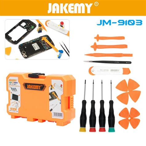 Jakemy 13 In 1 Smartphone Driver Repair Tools Set Jm 9102 jakemy 18 in 1 mobile phone smartphone driver repair tools set jm 9103 jakartanotebook