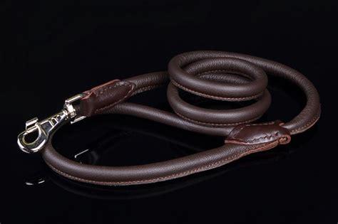 Handmade Leather Leads - handmade rolled leather lead