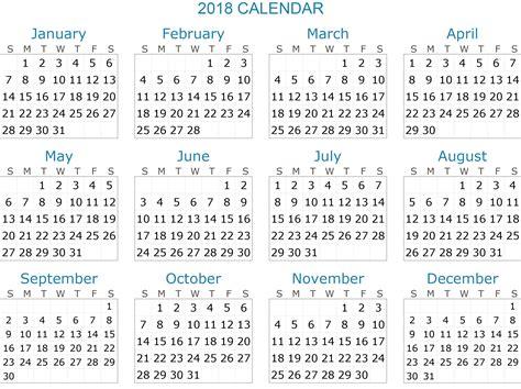 Calendar 2018 Word Monthly 2018 Calendar Word Printable Template