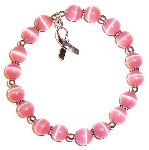 Breast Cancer Awareness Bracelet   Sterling Silver   Pink 8mm