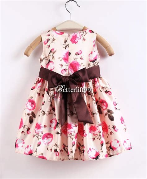 Wear Sweet Flower Sundress baby skirt flower printed toddler clothes