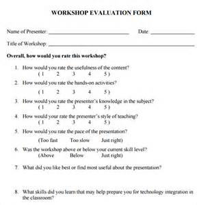 workshop feedback form template workshop evaluation form 11 free in pdf