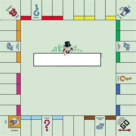 monopoly board template monopoly money printable template search