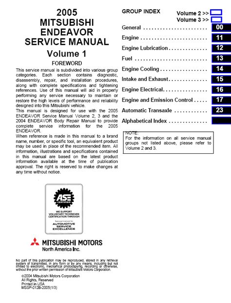 free online auto service manuals 2011 mitsubishi endeavor lane departure warning service manual 2008 mitsubishi endeavor repair manual for a free mitsubishi outlander 2003