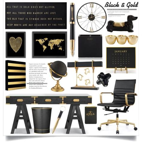 black home decor best 25 gold office ideas on