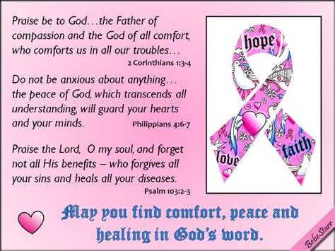 how to comfort someone who has cancer a christian ecard offering get well wishes for someone