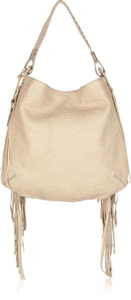 Roberto Cavalli Acapulco Large Hobo by Roberto Cavalli Gipsy Fringed Textured Leather Hobo Bag In