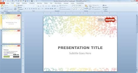 math themes for powerpoint 2010 free colored digits powerpoint template free powerpoint