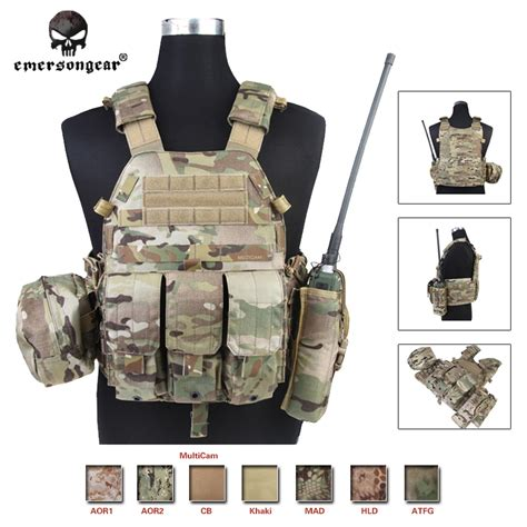 Airsoft Tactical Combat Styles Emerson Protecti Murah emersongear lbt6094a style tactical vest with 3 pouches airsoft combat gear