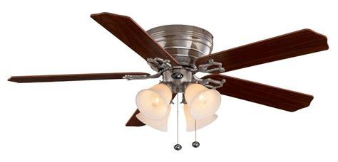 ceiling fan string hton bay carriage house brushed nickel ceiling fan 52