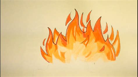 Drawing Flames by How To Draw Flames Easy Step By Step For Beginners On