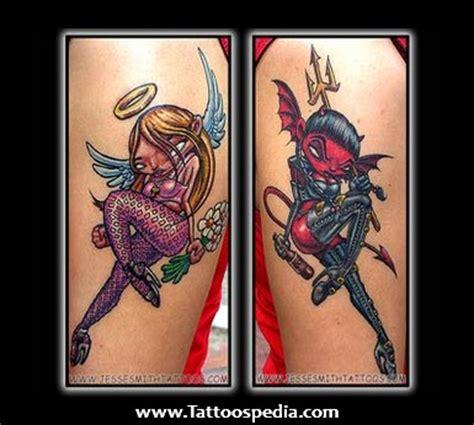 tattoo angel pin up angel devil pin up tattoo