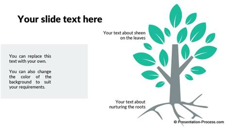 roots template flat design templates for powerpoint tree