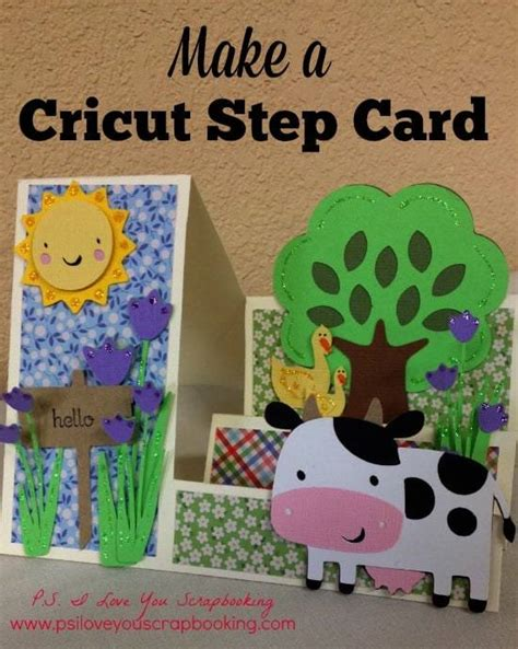 Cricut Place Card Template by Cricut Stair Step Card Template And P S I