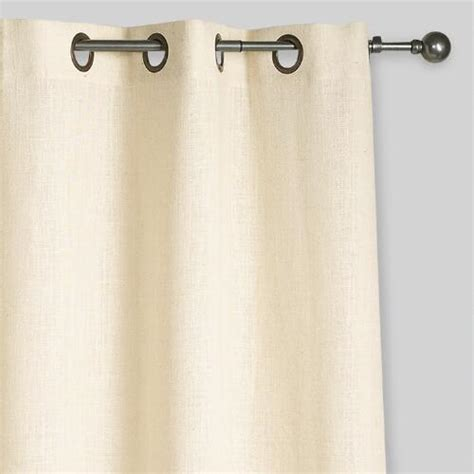 ivory burlap curtains ivory hemp burlap grommet top curtains set of 2 world