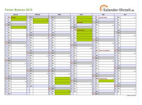 Kalender 2015 Din A4 Ferien Bremen 2015 Ferienkalender Zum Ausdrucken