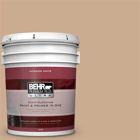 behr premium plus ultra 5 gal n250 3 pottery wheel matte interior paint 175405 the home depot
