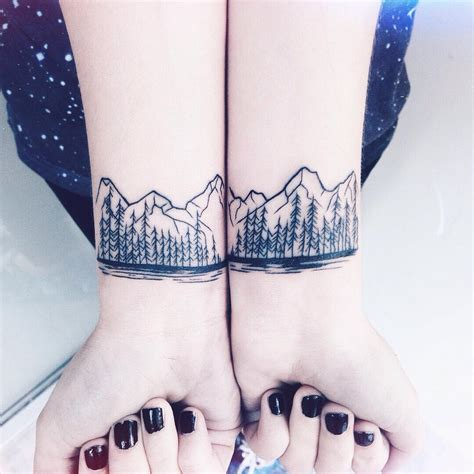 tree and mountain tattoo 80 best mountain designs meanings for all ages
