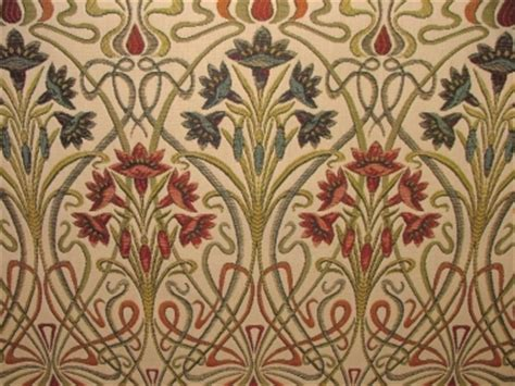 arts and crafts fabric for upholstery art nouveau jewel thick designer jacquard curtain