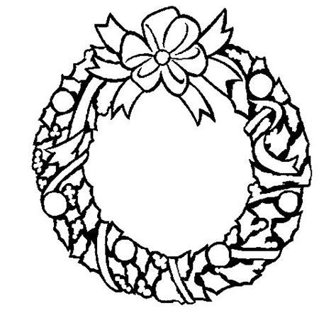 dibujos de navidad para colorear dibujosnet dibujo de corona de navidad 1 para colorear dibujos net