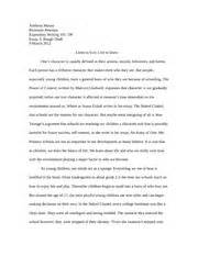 Rutgers Essay Exle by Essay 2 1 Anthony Musso Professor Peterson Expository Writing 101 Dp Essay 2 Draft 14