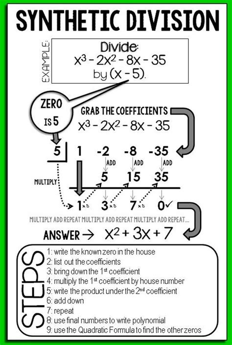 Division And Synthetic Division Worksheet by Math 11 And Synthetic Division Worksheet Answers