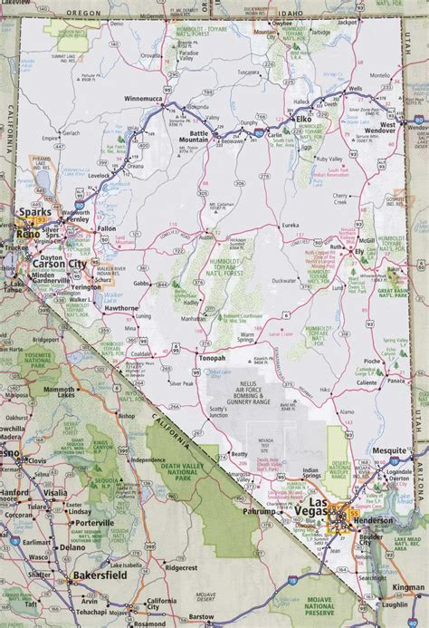 unr map nevada road map