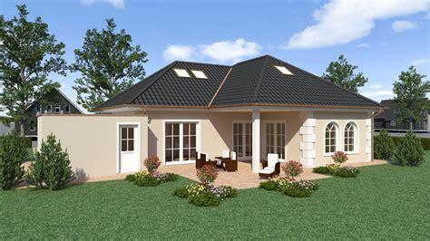 walmdach modern fassadengestaltung modern bungalow harzite