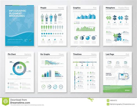 infographics brochure layout infographics brochure elements for business data