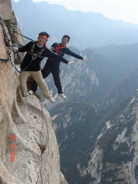 Wooden Wall Hanging by Mount Huashan China Famous Mountains Tour