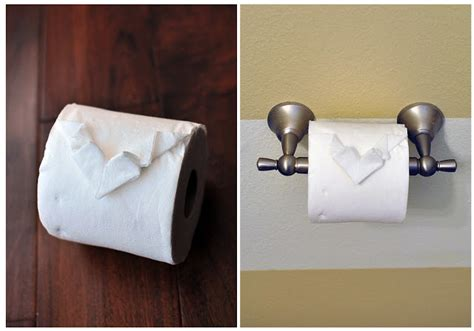 Toilet Origami - the cheese thief toilet paper origami
