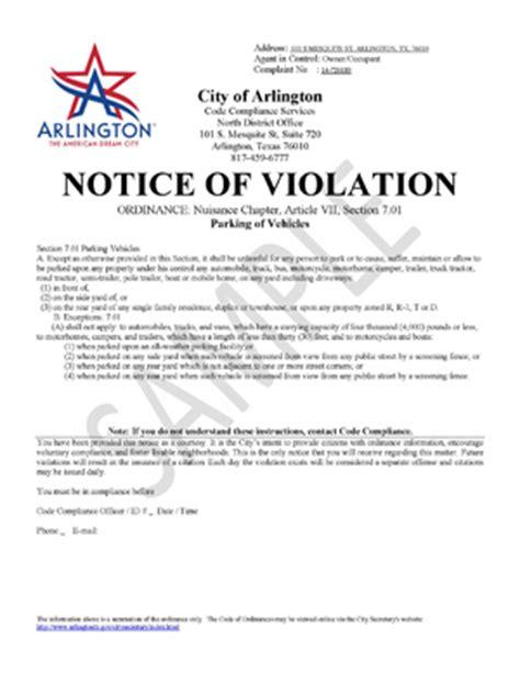 Enforcement Letter Codes Enforcement Code Compliance