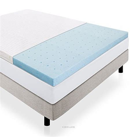 3 Memory Foam Mattress Topper by Lucid 2 5 Inch Gel Infused Ventilated Memory Foam Mattress