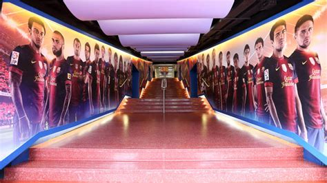 Barcelona Fc Room by C Nou Unveils Remodeled Dressing Room Tunnel