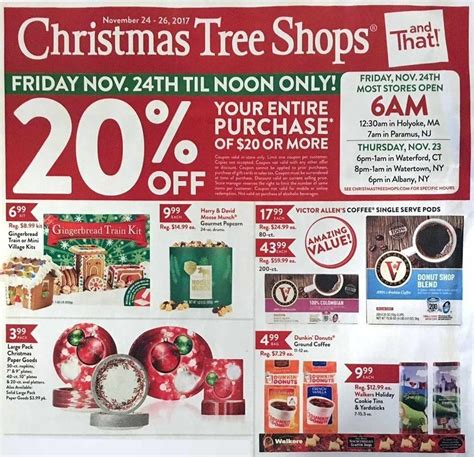 christmas tree shops 2017 black friday ad frugal buzz