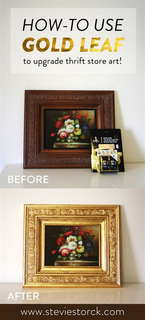 How To Use Home Design Gold by How To Use Gold Leaf To Upgrade Thrift Store Stevie