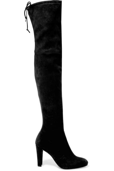 stuart weitzman highland the knee boots stuart weitzman highland stretch suede the knee boots
