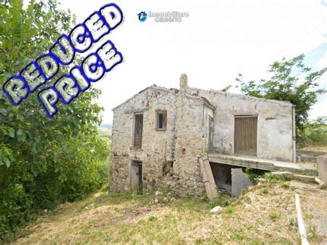 cottage rustic stone house with land for sale in gissi