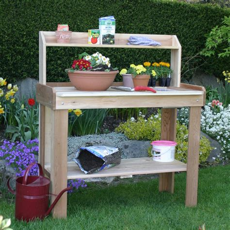 plant potting bench potting bench decor theme with unfinished wooden frames