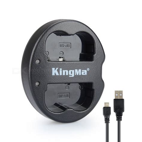Charger Bp 511 A kingma bm015 bp511 dual charger for canon bp 511 bp 511a