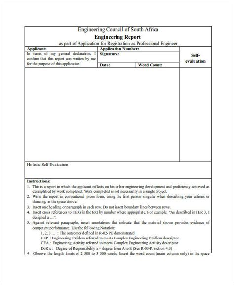 technical report sles engineering technical report template 28 images
