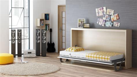 klappbett mit schreibtisch schrankbett wandbett singlo horizontal desk mit