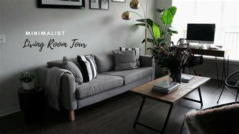 Apartment Living Room Ideas - tiny minimalist apartment living room tour
