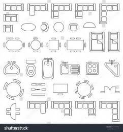 interior design floor plan symbols standard furniture symbols used architecture plans stock
