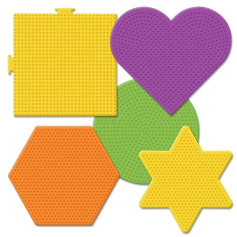 perler bead pegboard perler large basic shapes pegboards 5 ct