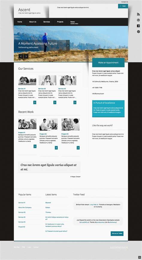responsive clean business joomla template ascent