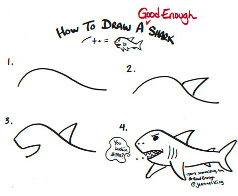 jeannelking how to draw a enough wave how to draw a enough shark drawing tutorial image