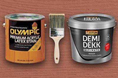 olympic premium acrylic latex stain overschilderen
